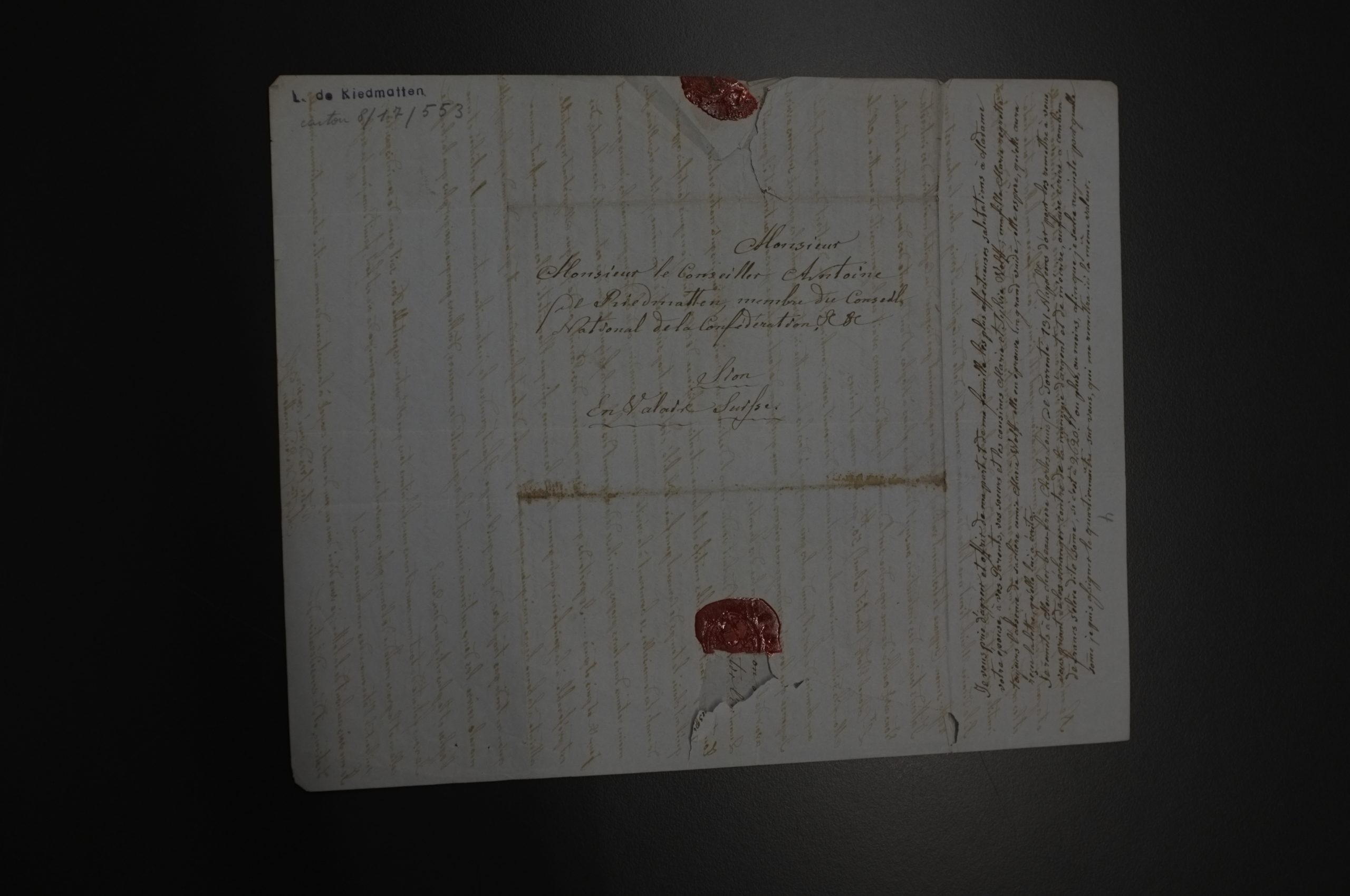 Archives cantonales du Valais